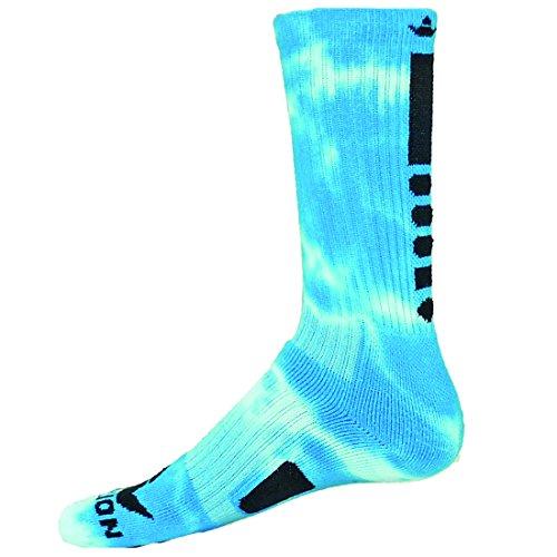 Red Lion Maxim Tie Dye Athletic Socks ( Neon Blue / White - Medium ) - Girls Basketball Socks