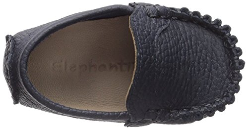 Pictures of Elephantito Boys' Moccasin Crib Shoe Navy 0 2