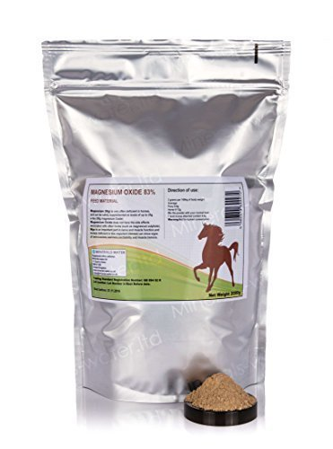 2kg MAGNESIO óxido - 83% Aliviador óxido Magnesio - Caballo Equino Suplemento
