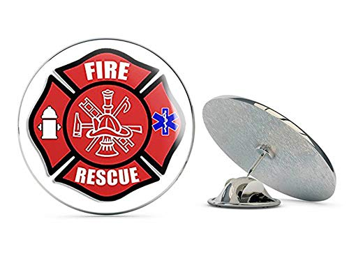 NYC Jewelers FIRE Rescue Maltese Cross Shaped (EMT EMS Medic Firefighter) Metal 0.75