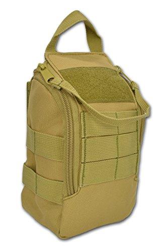 Combat Medic Bag - Lightning X Premium Drop Front Military MOLLE IFAK Tactical Medical Pouch - TAN