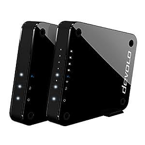 Devolo GigaGate - Puente Wi-Fi (2 Gbit/s, 1x puerto Gigabit, 4x puertos ethernet rápidos, conexión punto a punto a través de una banda de 5 GHz, experiencia multimedia, codificación AES) negro