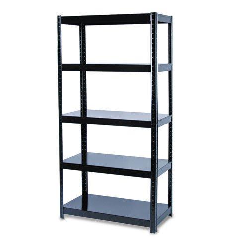 Boltless Steel Shelving, Five-Shelf, 36w x 18d x 72h, Black, Sold as 1 Each ()