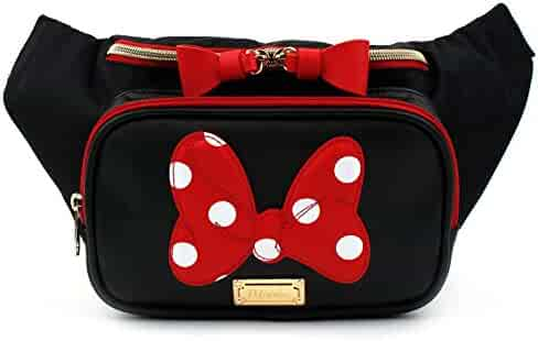 Disney Minnie Mouse Ribbon HipSack Waist Pack Fanny Sling Bag for Women Girls