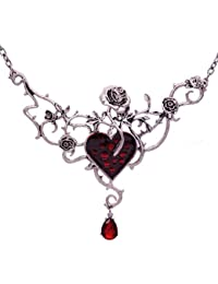 Halloween Fashion Blood Heart Rose Skull Collar Necklace...