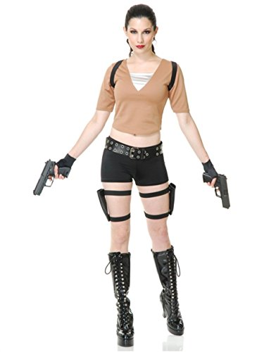 Adult Tomb Fighter Costumes (Tomb Fighter Costume - X-Small - Dress Size 3-5)