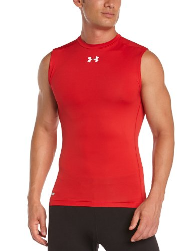 Under Armour HeatGear Sonic Compression Sleeveless Top - XX Large - Red