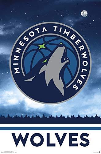Trends International Minnesota Timberwolves-Logo Clip Bundle Wall Poster, 22.375