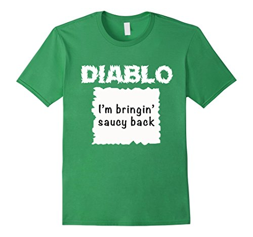 Mens Halloween Costume T-shirt - DIABLO HOT SAUCE PACKET Shirt XL Grass (Halloween Costume Simple Ideas)
