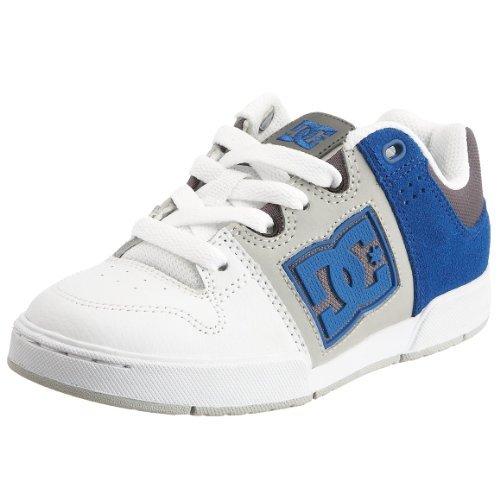 DC Kids Turbo Skate Shoe (Little Kid/Big Kid),White/Royal,4 M US Big Kid
