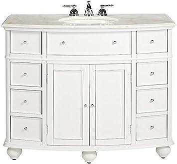 High Quality Hampton Bay Curved Bath Vanity, 35u0026quot;Hx45u0026quot ...