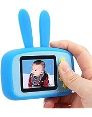 HD Color Screen Camera, Plug-in Card Camera Cute Easy to Carry 2.0in Children Camera 32GB Mini Camera for Children for Entertainment(Blue)