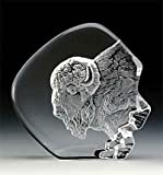 VG Engraved Lead Crystal - Buffalo Head