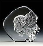 VG Engraved Lead Crystal - Buffalo Head