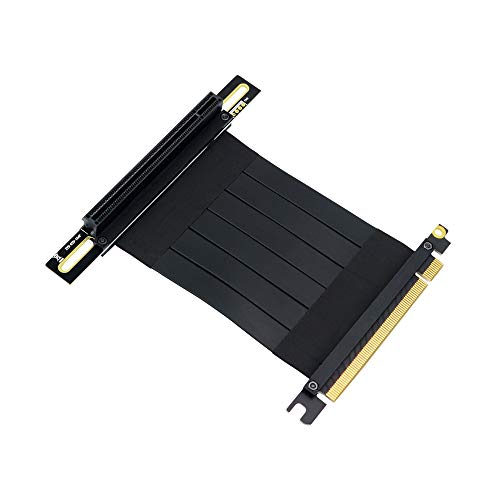 Timack PCI-e PCI Express3.0 16X Extension Cable with Gold-Plated Connector (pcie 16X 90 Degree Cable 20cm)