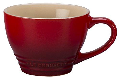 Le Creuset Stoneware Bistro Mug, 14 oz, Cerise (Mug Stoneware Bistro)