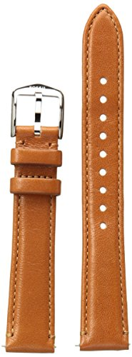 Fossil S161038 16mm Leather Calfskin Brown Watch Strap ()