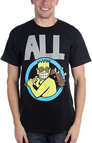 All   Mens Allroy Broken Bat T Shirt Size Large Color Black