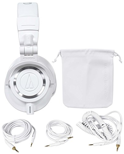 Audio Technica ATH-M50WH Over Ear Professional Studio Monitor White Headphones by Audio-Technica
