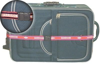 Personalized Woven Luggage / Suitcase / Baggage Strap (2 Straps (same name))