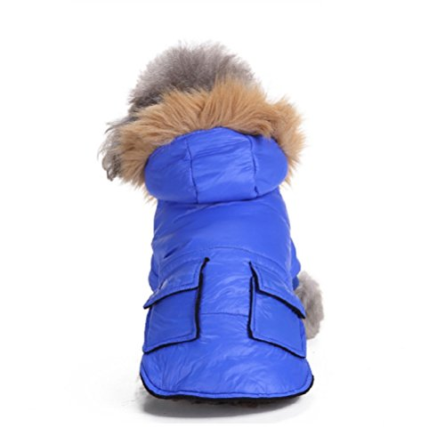 Systond Clearance Pet Dog Cold Weather Coat Puppy Warm Jacket Hoodie Thick Clothes Apparel jumper with Cute Hood for Small Medium Large Dogs (Small Dog Jumper)