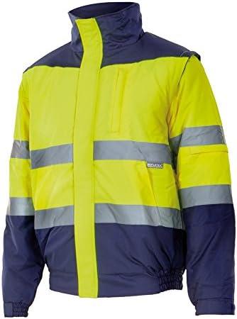 Velilla 161/C70/TL Cazadora de alta visibilidad, Azul marino y amarillo fluorescente, L: Amazon.es: Bricolaje y herramientas