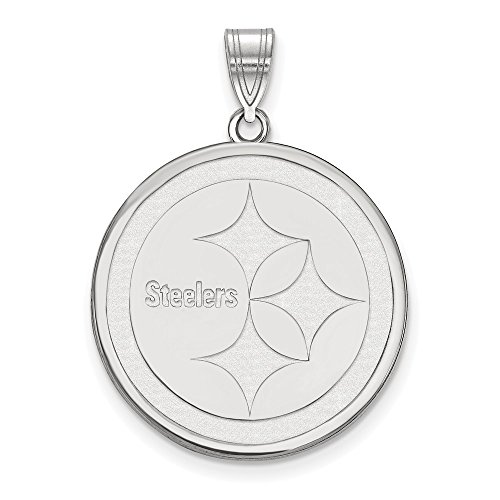 NFL Sterling Silver Pittsburgh Steelers Large ()