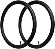 CalPalmy 28'' x 1.75/1.95/2.125 Road/Mountain Bike Replacement Inner Tubes Schrader Valve 32mm for Road Bikes