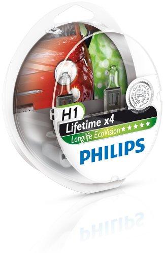 2 opinioni per Philips 0730536 H1 Ecovision Ll Lampada, 12258 S2