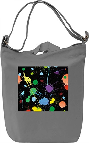 Paint Pattern Borsa Giornaliera Canvas Canvas Day Bag| 100% Premium Cotton Canvas| DTG Printing|