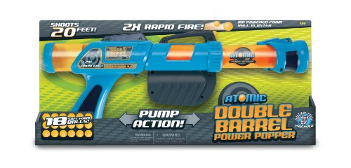 Hog Wild Atomic Double Barrel Power Popper Foam Battle Toy English Double Barrel