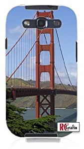 diy phone caseSan Francisco California Amazing Golden Gate Bridge Unique Quality Rubber Soft TPU Case for Samsung Galaxy S3 SIII i9300 (WHITE)diy phone case