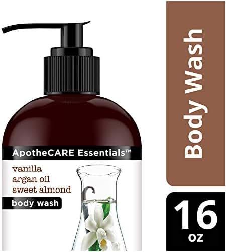 ApotheCARE Essentials The Nourisher Body Wash, Vanilla, Argan Oil, Sweet Almond, 16 oz