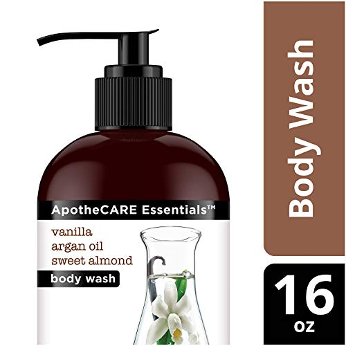 ApotheCARE Essentials The Nourisher Body Wash, Vanilla, Argan Oil, Sweet Almond, 16 oz