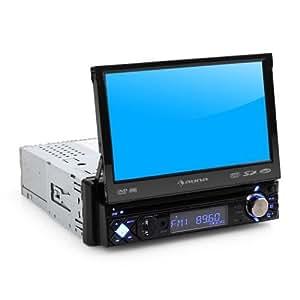 """Auna MVD-200 Autoradio con pantalla táctil 7"""" DVD Bluetooth ( USB SD, reproductor multimedia, DIN simple, 4x50W preamplificación, AUX frontal, panel desmontable, FM, micrófono integrado)"""