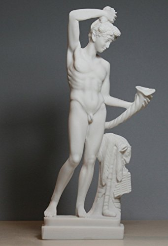 - Greek Roman God of Wine & Theater Dionysus Bacchus Cast Marble Statue Sculpture 9.45΄΄