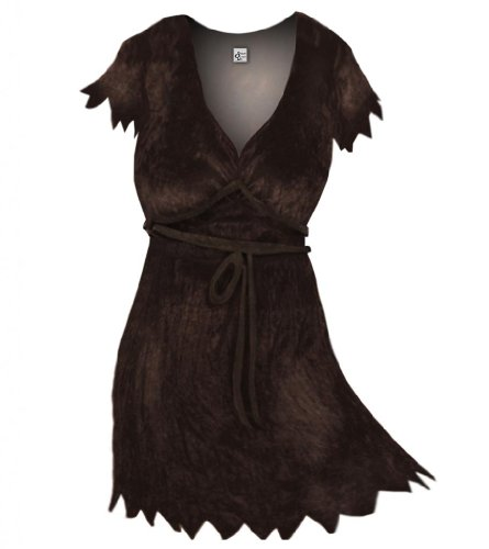 Sanctuarie Designs Women's Brown Cavewoman Plus Size Supersize Halloween Costume Dress/0x/Brown/