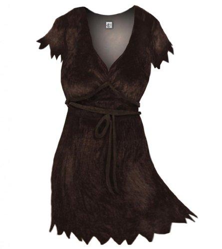 Sanctuarie Designs Women's Brown Cavewoman Plus Size Supersize Halloween Costume Dress/4x/Brown/ (Cavewoman Halloween Costumes Plus Size)