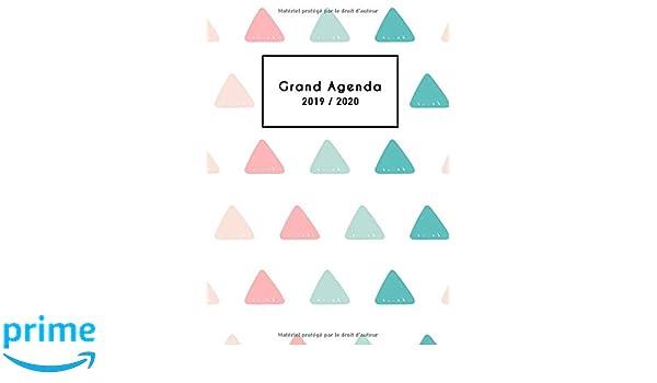 Grand Agenda 2019/2020: Agenda Mensuel 18 Mois 2019 2020 ...