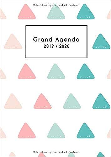 Grand Agenda 2019/2020: Agenda Mensuel 18 Mois 2019 ...
