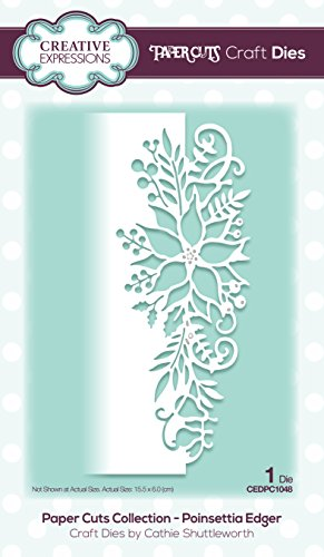 Paper Cuts Collection Poinsettia Edger Craft Die from Creative Expressions