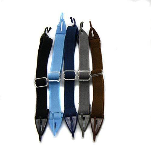 Kids Glasses Strap, Children Eyeglasses Cord, Sports Eyewear Head Band Retainer (5pcs Per Package) (Boys Mixed Colors)