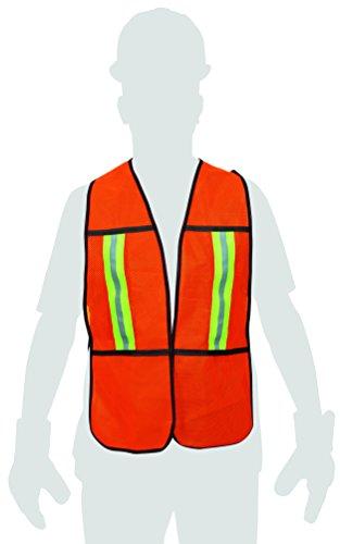 Pretul CHS-200N, Chaleco de Seguridad, Color Naranja, Alta Visibilidad, Unitalla
