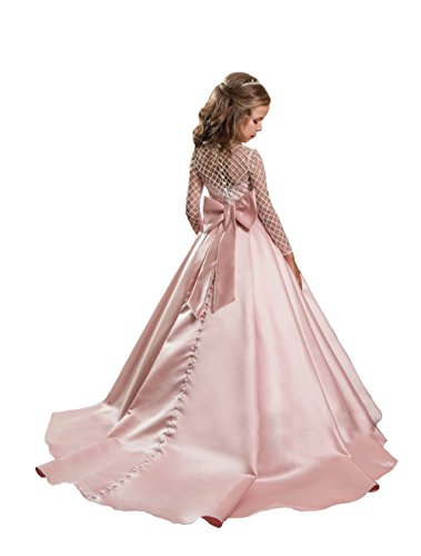 Nina Blusher Flower Girl Dresses Adorable Bow Kids Party Gown Junior Girl Bridesmaid Dress (11) by Nina (Image #1)