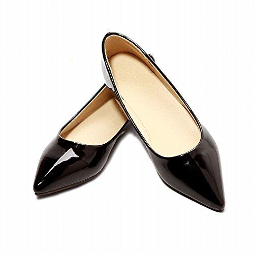 Latasa Femmes Mode Bonbons Couleurs Pointues Toe Slip On Flats Chaussures, Pompes Noir