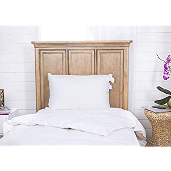 Image of Continental Bedding Superior 100% Down Pillows, 700 Fill Power 25 oz. Hungarian Goose Down Sleeper, 100% Cotton Striped Damask Shell Pillowcase, 20 X 30, Proudly, Queen, White (SP100-Q) Home and Kitchen
