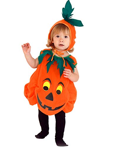 Aoymay Halloween Pumpkin Costume for Baby Kids