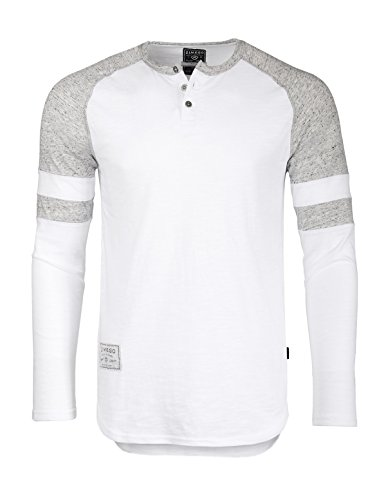 Sleeve Long Thermal Burnout (ZIMEGO Men's Long Sleeve Athletic Contrast Stripes Arm Raglan Henley)