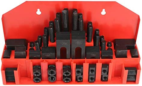 T-Slot Clamp Kit, 58Pcs T-Slot Clamp Kit Hardened Combined Press Plate for Lathe Milling Machine M10