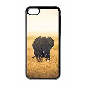 DIY Cover Case with Hard Shell Protection for Iphone 5C case with lonely elephant lxa#278898 by icecream design